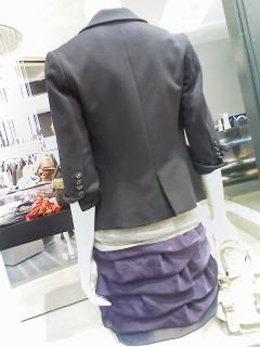 ★リヨセルナイロンタイトジャケット&ラフィアカゴbag★